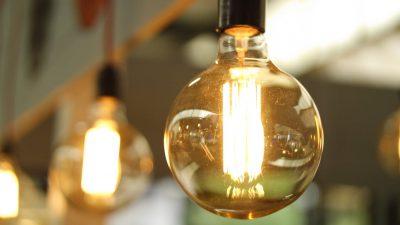macro shot of a light bulb